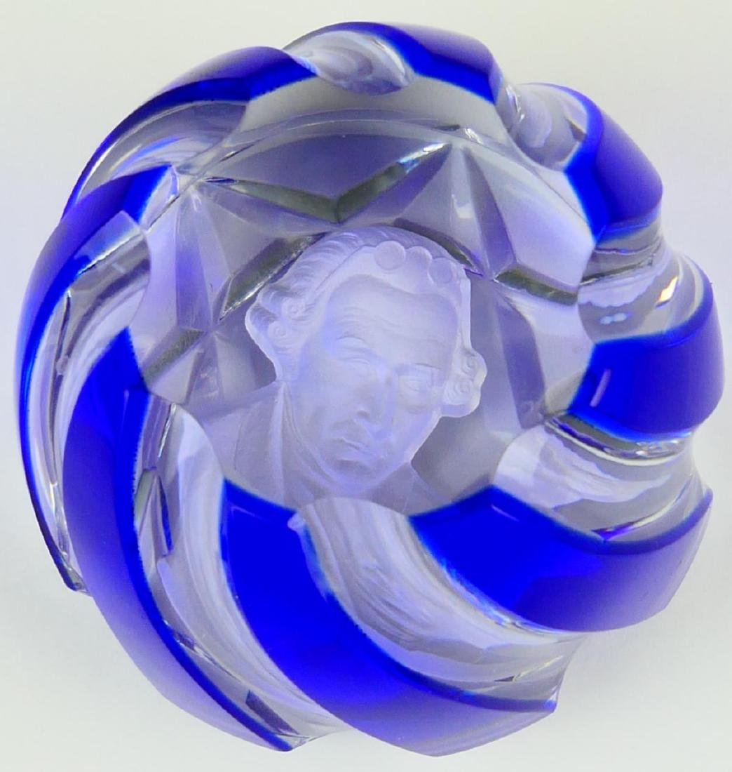 BACCARAT SULFIDE GEORGE WASHINGTON PAPERWEIGHT - 3