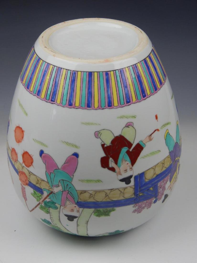 CHINESE PORCELAIN CHILDRENS GINGER JAR VASE - 3
