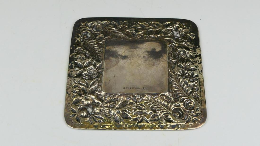 KIRK & SONS REPOUSSE FLORAL STERLING DISH - 3