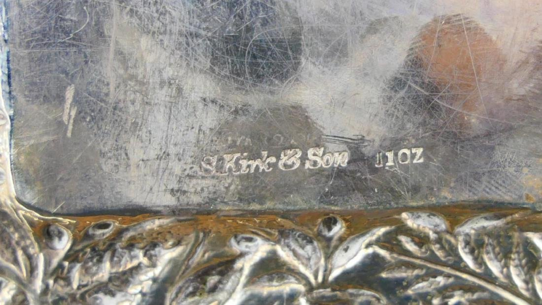 KIRK & SONS REPOUSSE FLORAL STERLING DISH - 4