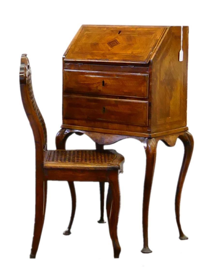 Queen Anne Desk >> Antique Queen Anne Parquetry Child S Desk Chair