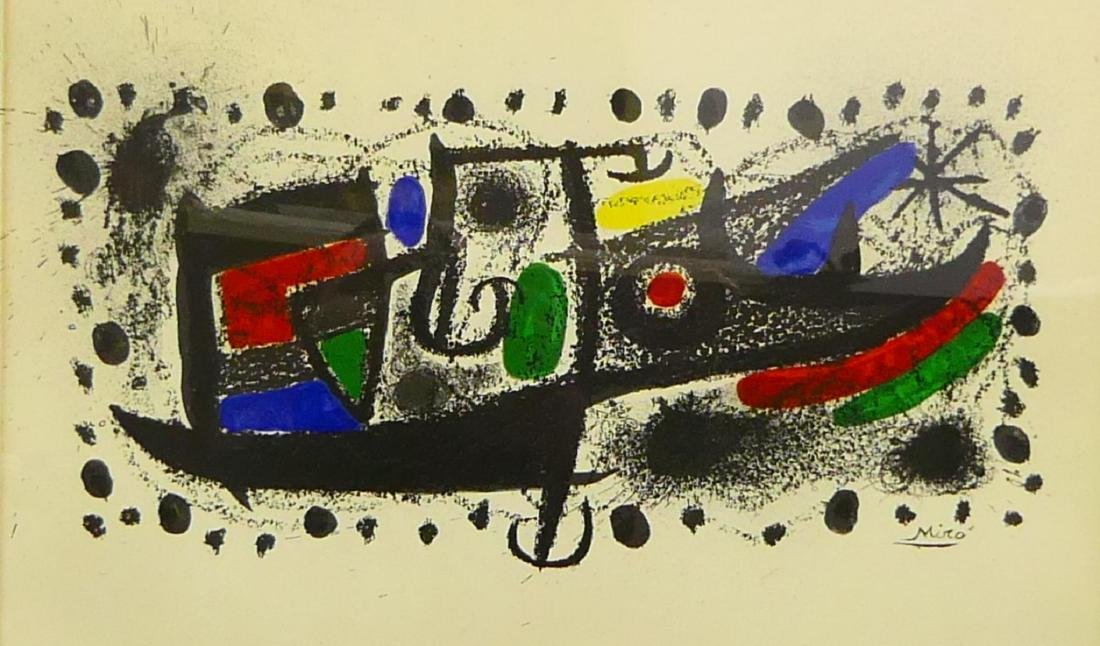 "JOAN MIRO ""STAR SCENE"" COLOR LITHOGRAPH w CERT"