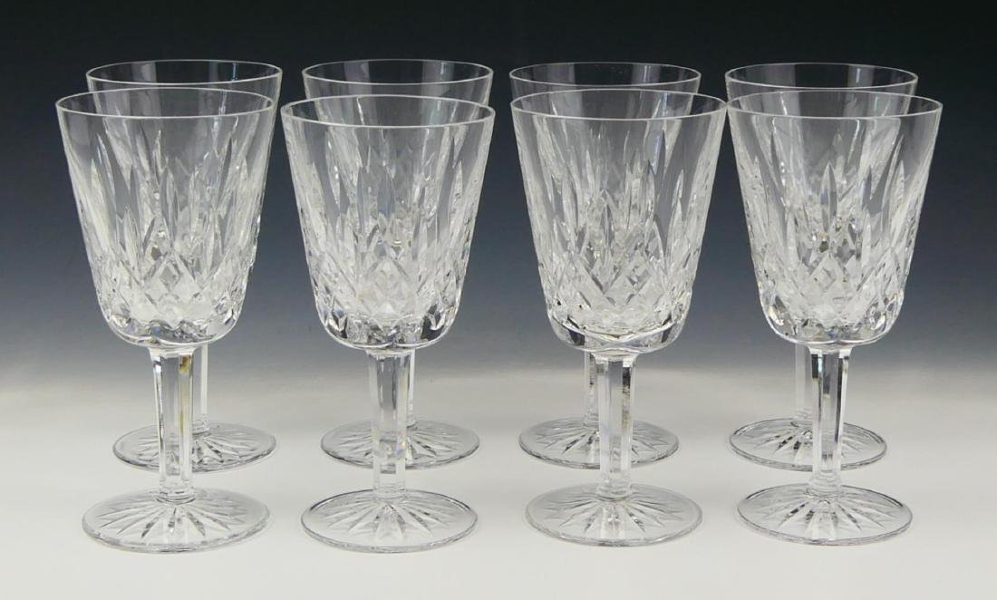 """8 WATERFORD CRYSTAL """"LISMORE"""" WATER GOBLETS"""