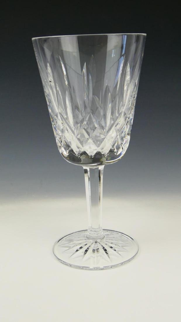 """8 WATERFORD CRYSTAL """"LISMORE"""" WATER GOBLETS - 2"""