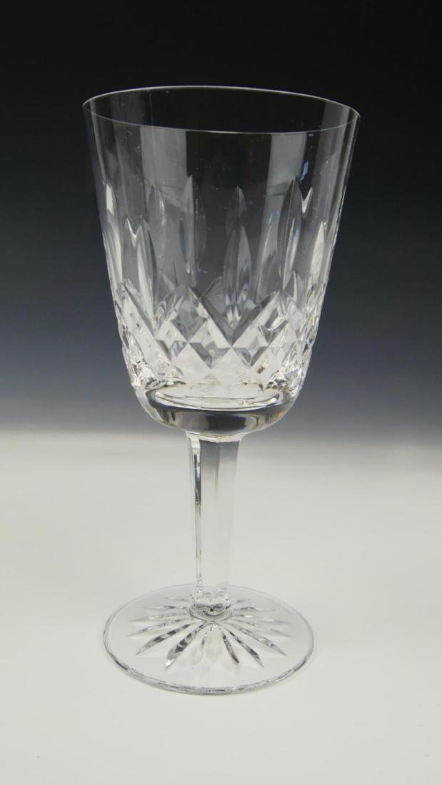 "8 WATERFORD CRYSTAL ""LISMORE"" WHITE WINE GLASSES - 2"