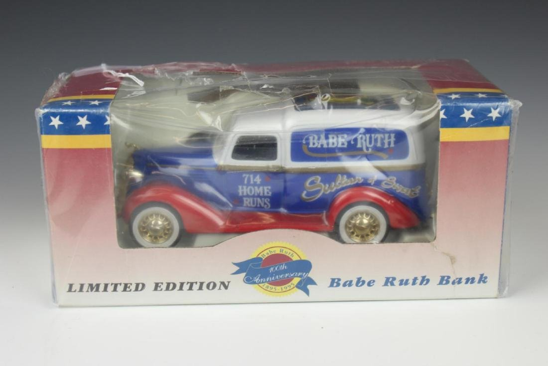 LIMITED EDITION BABE RUTH DIE CAST CAR BANK