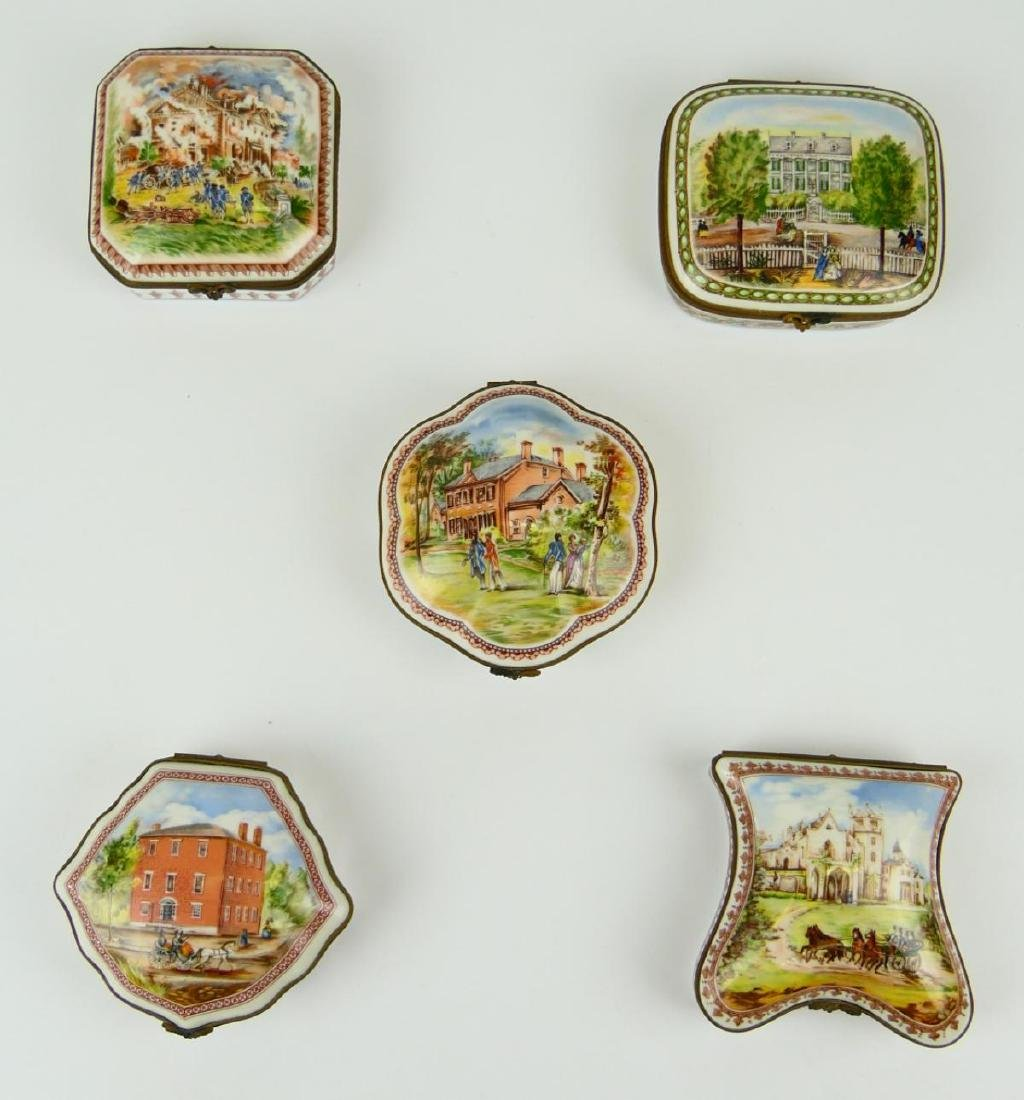 5 PORCELAIN DE PARIS PORCELAIN COLONIAL US BOXES - 2