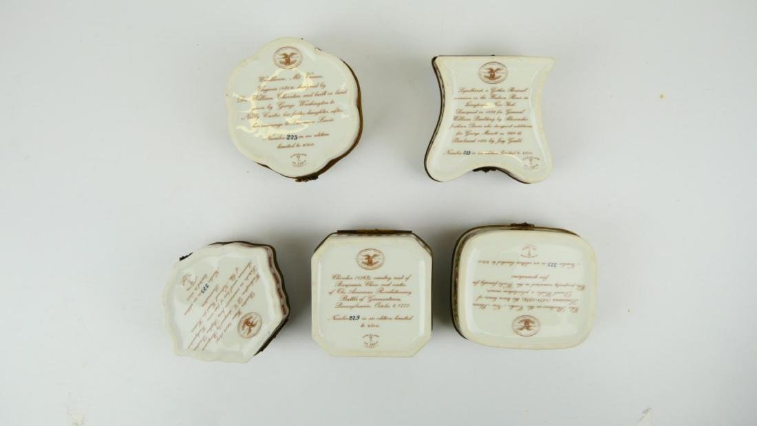 5 PORCELAIN DE PARIS PORCELAIN COLONIAL US BOXES - 8