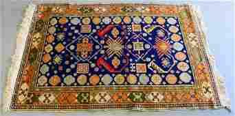 Vtg BOKHARA PERSIAN HAND WOVEN WOOL RUG 6 x 4