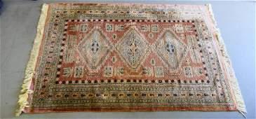 Vtg BOKHARA PERSIAN HAND WOVEN WOOL RUG 6 x 42