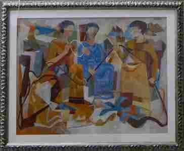 VINCENTE DE REGO MONTEIRO (BRAZIL 1899-1970) GOUACHE