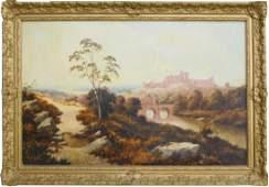 EDWARD H NIEMANN (UK fl1863-1867) OIL ON CANVAS