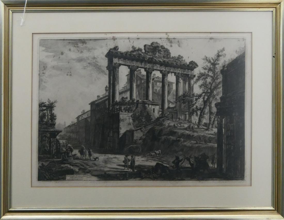 GIOVANNI PIRANESI (ITALY 1720-1778) ETCHING FRAMED