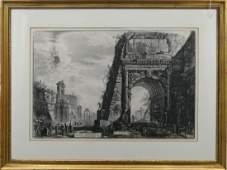 GIOVANNI PIRANESI (ITALY 1720-1778) ETCHING FRAMED
