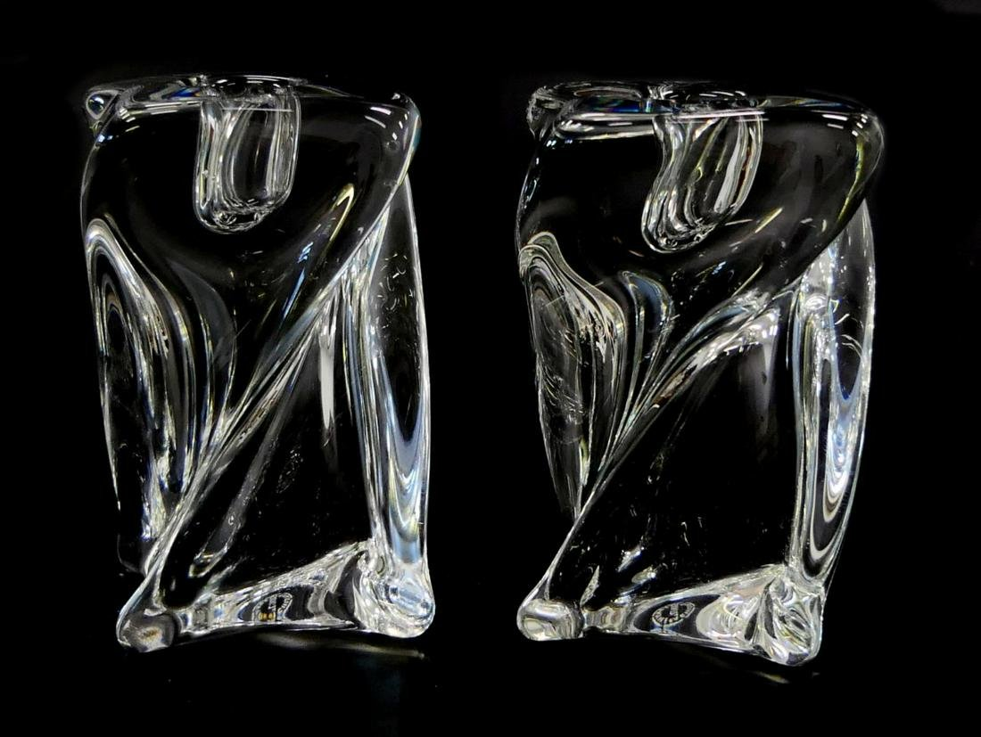 Pr ST LOUIS FRENCH CRYSTAL TWIST FORM CANDLEHOLDER