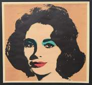 RARE ANDY WARHOL LIZ IN PINK SIGNED LITHOGRAPH