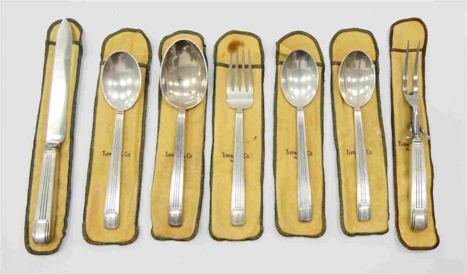 "7pcs TIFFANY & CO STERLING ""CENTURY"" SERVING ITEMS"