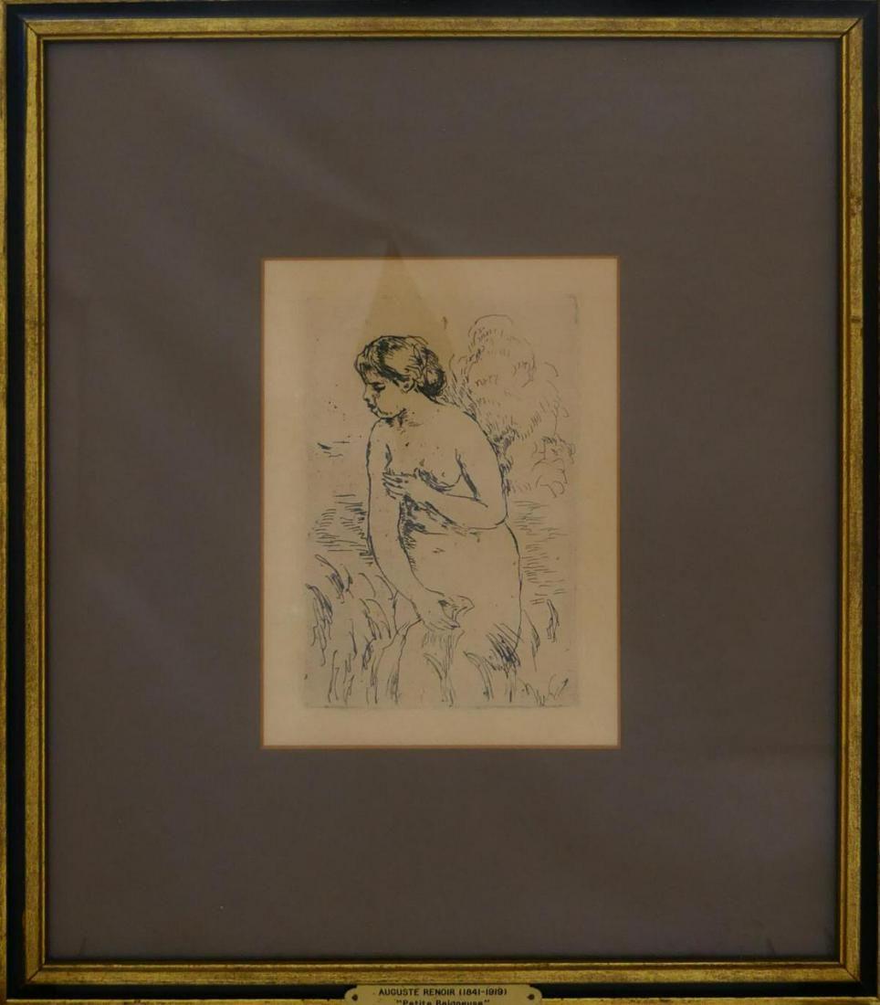 RENOIR (FRANCE 1841-1919) NUDE FEMALE ETCHING 1910