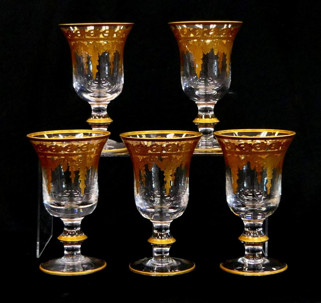 "LOT OF (5) ARTE ITALICA 6"" WINE GLASSES"
