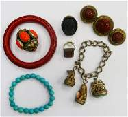 LOT OF ASIAN VINTAGE COSTUME JEWELRY
