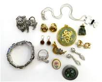 LARGE LOT OF FABULOUS HIEND COSTUME JEWELRY
