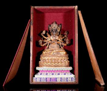 CHINESE TIBETAN BRONZE BUDDHA SCULPTURE
