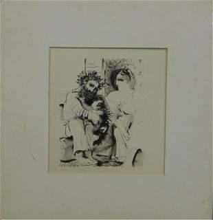 PABLO PICASSO SCENE DE FAMILLE 1936