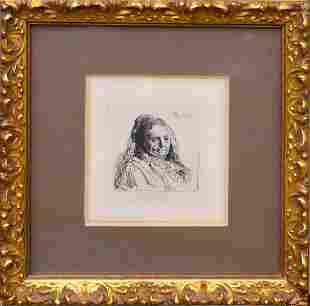 REMBRANDT HOLLAND 16061669 THE ARTISTS MOTHER