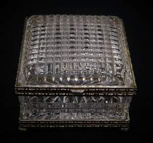 CRYSTAL SILVER LARGE VANITY BOX