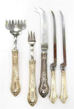 LOT OF 5 MISC STERLING SILVER HANDLE FLATWARE ITEM