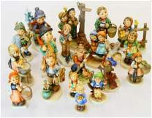 LOT OF 18 HUMMEL GOEBEL GERMAN PORCELAIN FIGURES