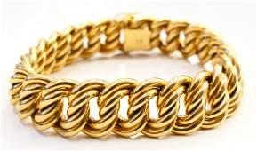 HEAVY 18 KT YELLOW GOLD LINK BRACELET