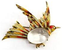 RARE CORO CRAFT ENAMEL JELLY BELLY STERLING GROUSE