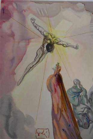 SALVADOR DALI CHRISTS APPARITION WOODBLOCK