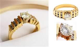 AWESOME 14KT TIFFANY STYLE DIAMOND ENGAGEMENT RING