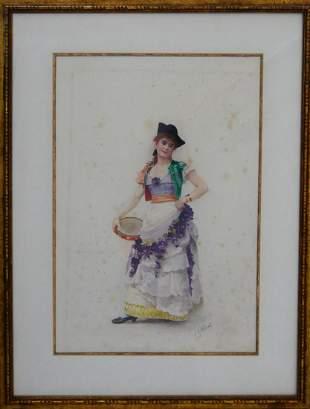 JEHAN GEORGES VIBERT FRANCE 18401902 WATERCOLOR