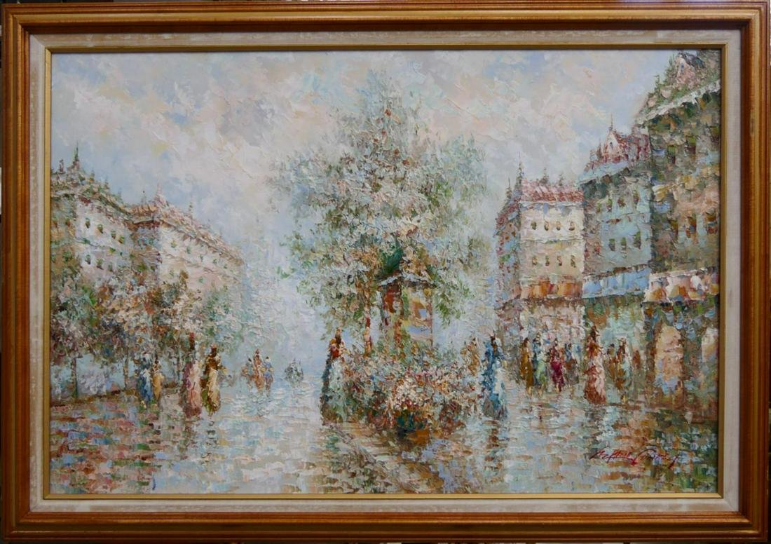 MARIE CHARLOT (FRANCE 20th C) OIL PAINTING ON CANV