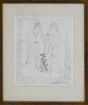 GEORGES BRAQUE EROS EURYBIA ETCHING FRAMED