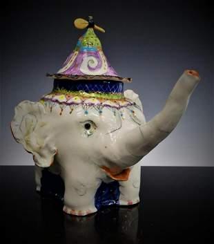 PINA ZATECEVA WHIMSICAL ELEPHANT TEA POT RUSSIAN