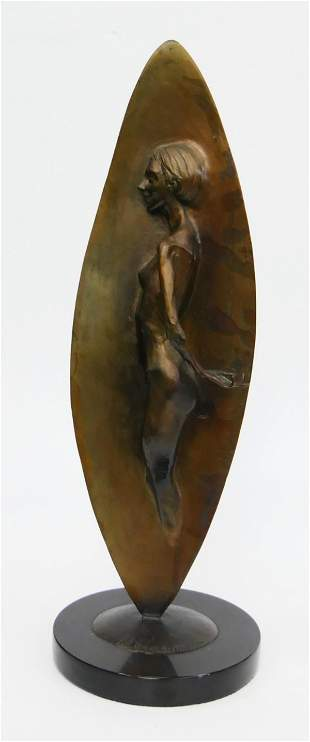 ANDREW DEVRIES CLASSIC BRONZE WOMAN IN WALL