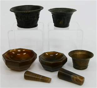 ANTIQUE MORTAR AND PESTLES FROM PHARMACEUTICAL CO3