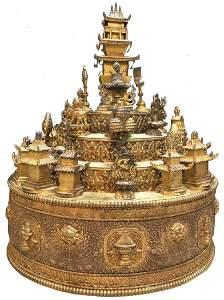 FINE RARE CHINESE TIBETAN SUMIYAMA BUDDHIST ALTAR