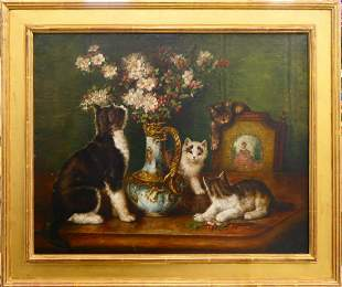 AUGUST LAUX GERMANY 18531921 STILL LIFE OIL
