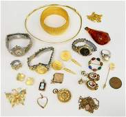 LARGE LOT OF VINTAGE COSTUME JEWELRY AND WATCHES