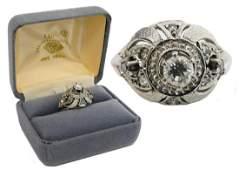 ORIGINAL DIAMOND DECO LADIES ENGAGEMENT RING