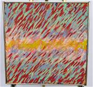 ED KERNS (USA b1945) ABSTRACT OIL ON CANVAS 1971