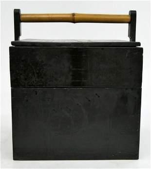 CHINESE BUN WARMER ANTIQUE BOX