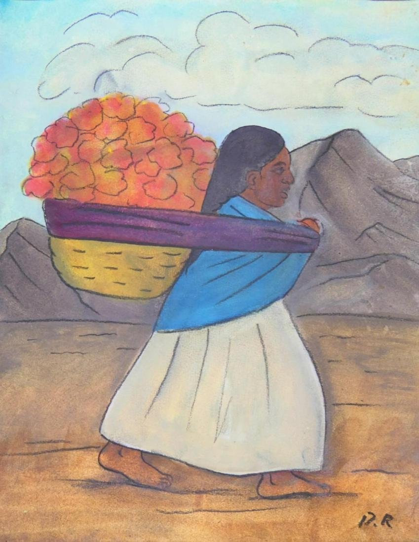 AFTER DIEGO RIVERA PASTEL ON PAPER