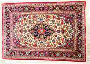 LOVELY PERSIAN ORIENTAL FLORAL RUG 5 x 35