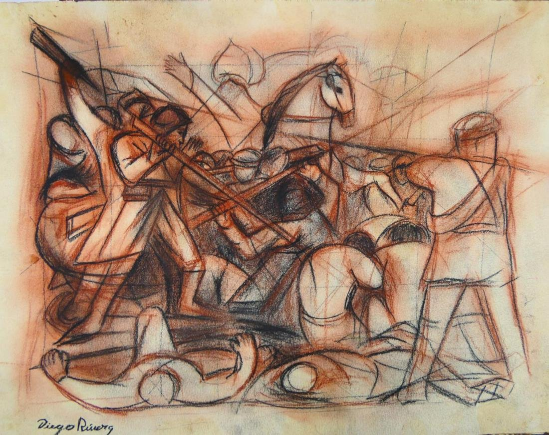 AFTER DIEGO RIVERA (MEXICO 1886-1957) CHARCOAL